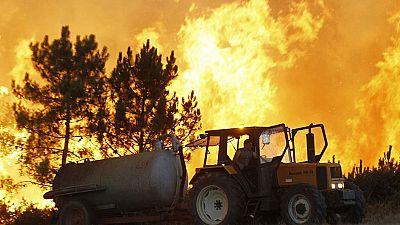 Los 74 focos de incendios en Galicia  están ya controlados o extinguidos, sólo uno continúa activo