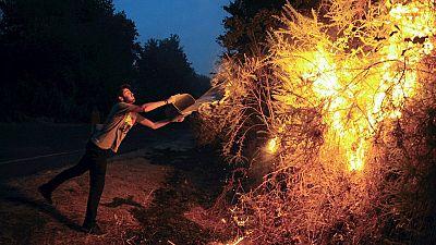 Cuatro incendios activos en Galicia, tres de ellos cerca de Ourense y uno en A Coruña