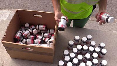 Desarticulado un punto de distribución de un complemento para adelgazar ilegal y tóxico