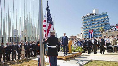 ohn Kerry, ha reabierto formalmente este viernes la embajada de su país en Cuba