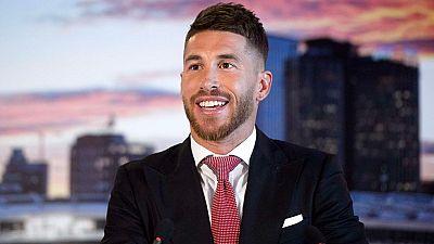 """Sergio Ramos, renovado por el Real Madrid hasta 2020, ha mostrado su compromiso con el club merengue: """"Mi cabeza y mi corazón siempre han estado aquí"""", ha asegurado el sevillano."""