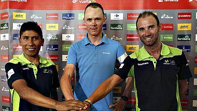 El ciclista británico Chris Froome (Team Sky) reconoció estar  motivado e ilusionado en su regreso a la Vuelta ciclista a España, a  pesar de llegar con el objetivo de la temporada cumplido con la  conquista del reciente Tour de Francia, al tiempo qu