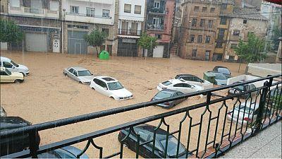 Las lluvias torrenciales en Valencia desbordan un río en Ademuz e incomunican el centro de salud