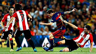San Mamés será el escenario del estreno liguero del Athletic Club y del FC Barcelona en el tercer duelo entre ambos equipos en apenas diez días después de la Supercopa de España, torneo que dio el primer título al club rojiblanco en 31 años y acabó c