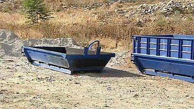 Encuentran el cadáver carbonizado de una mujer en un contenedor en Nerva, Huelva