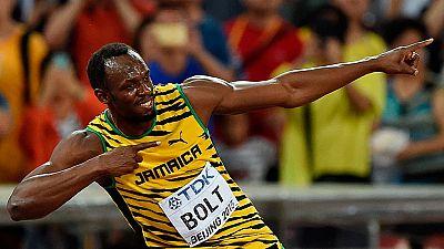 El corredor jamaicano Usain Bolt se ha proclamado campeón del  mundo de los 100 metros en el Estadio Nacional de Pekín, con un  tiempo de 9 segundos y 79 centésimas, por delante del gran favorito,  el estadounidense Justin Gatlin, y del canadiense An