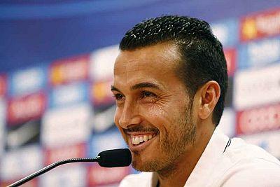 Pedro se despide del Barcelona ante sus ex compañeros