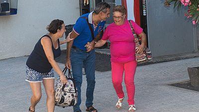 Josefa Hern�ndez sale de la prisi�n de Tah�che, en Lanzarote
