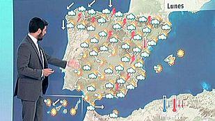 Fuertes tormentas en el tercio norte y la mitad oriental del país