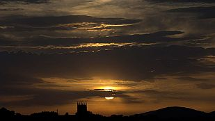 Chubascos fuertes en el noreste de Cataluña