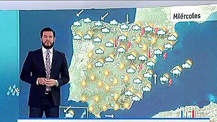 Continúan las tormentas en el este y bajan las temperaturas nocturnas en toda la Península