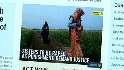 Movilización contra la sentencia de un consejo tribal en India que condena a dos hermanas a ser violadas