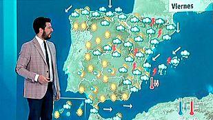 Tormentas fuertes en Pirineos y Mediterráneo