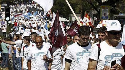 Finaliza en Madrid la 'marcha blanca' de los productores de leche