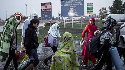 Miles de refugiados han entrado ya en Austria