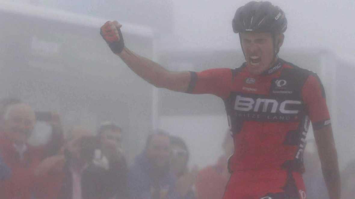 El italiano De Marchi gana en Alto Campoo, Aru sigue líder