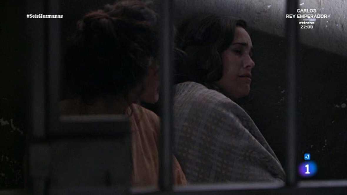 Seis Hermanas - Adela recibe una paliza en la cárcel