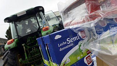Continúan en Galicia las movilizaciones de los ganaderos contra los bajos precios de la leche