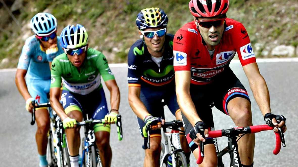 El ciclista irlandés Nicolas Roche (Team Sky) se ha impuesto este  jueves en la decimoctava etapa de la Vuelta a España, disputada entre  Roa y Riaza sobre 204 kilómetros, al ganarle el pulso en un sprint  mano a mano al veterano vasco Haimar Zubeldi
