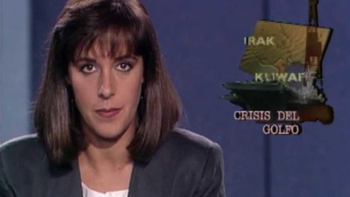 Telediario Fin de Semana 1 - 15/09/90 - Estreno de Ana Blanco
