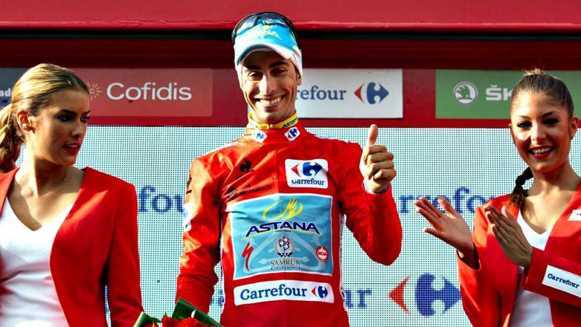 El español Rubén Plaza (Lampre) ha ganado la vigésima etapa de la Vuelta, disputada entre San Lorenzo de El Escorial y Cercedilla, de 175 kilómetros, en la que el italiano Fabio Aru (Astana) se ha enfundado el maillot rojo que le permite ser virtual