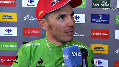 El corredor catalán del Katusha ha celebrado su segundo puesto final en la general y se ha compadecido de Tom Dumoulin.