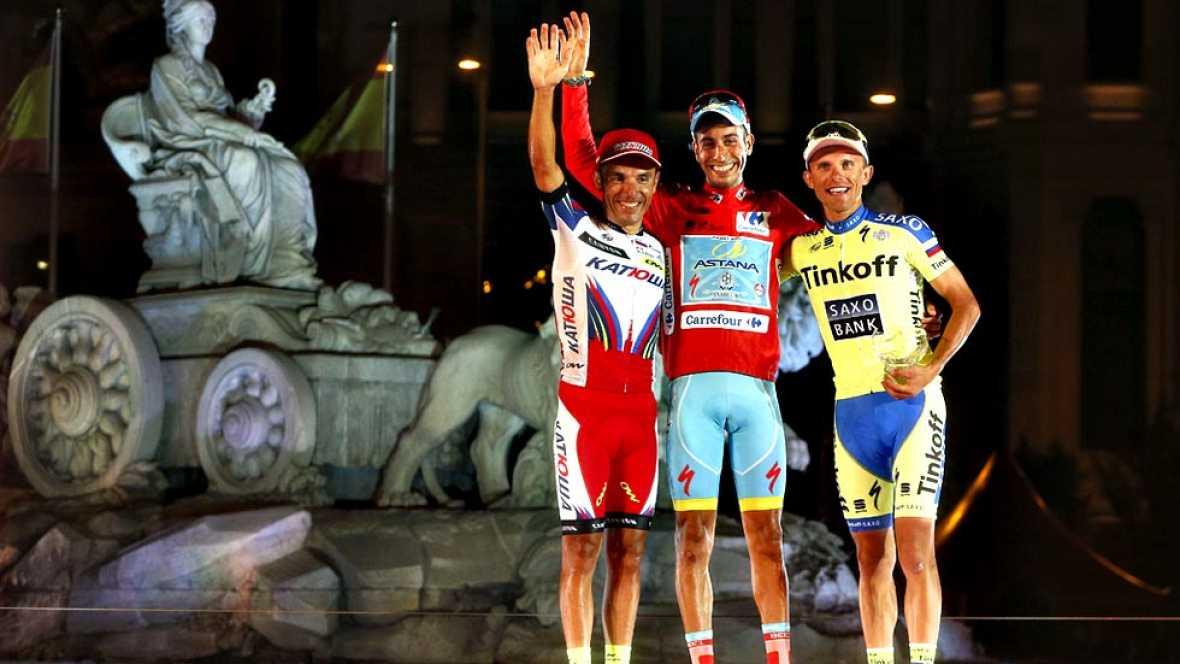 El ciclista italiano de Astana se proclamar� este domingo campe�n de la Vuelta 2015, gracias a un homenaje indirecto a Perico en La Morcuera, donde arrebat� el maillot rojo a Dumoulin y escribi� el mejor final para una Vuelta que no empez� nada bien