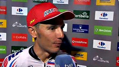 """Joaquim """"Purito"""" Rodríguez, segundo en la general de la Vuelta, se sintió indignado con Alejandro Valverde después de que el murciano le arrebatara el maillot verde de la regularidad en la última etapa, jornada que el catalán considera """"de fiesta"""""""
