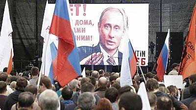 Marcha en Rusia contra las políticas de Putin