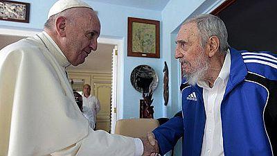 El papa Francisco se reúne con Fidel Castro en La Habana