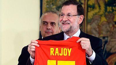 """Rajoy: """"Hab�is hecho felices a mucha gente sin pedir nada a cambio"""""""