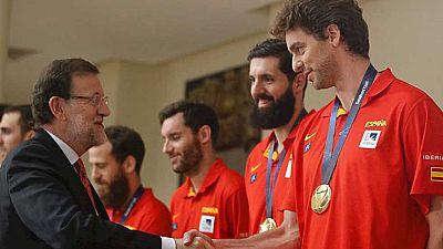Rajoy recibe en la Moncloa a la selección española de baloncesto
