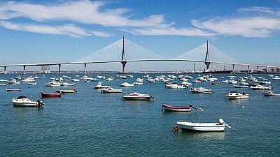 El puente Constitución 1812 sobre la Bahía de Cádiz, uno de los mayores del mundo, se inaugura este jueves