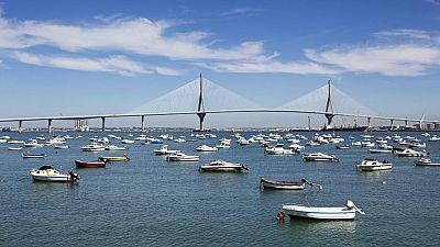 Mariano Rajoy y Susana Díaz inauguran la unión por mar entre Cádiz y Puerto Real