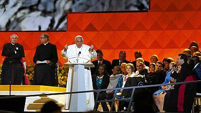 El papa dedica palabras de apoyo a los inmigrantes en Filadelfia