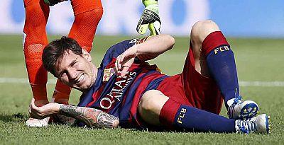 Messi, en el límite para llegar al clásico contra el Real Madrid