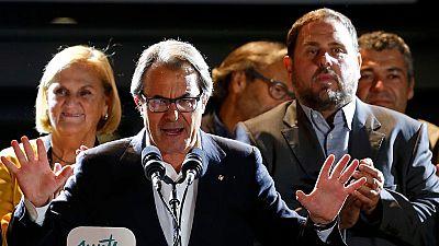 """Artur Mas: """"Ha ganado el sí y la democracia, dos victorias en una"""","""