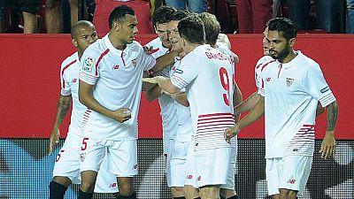 Juve y Sevilla buscan en la Champions el lugar para levantar el vuelo