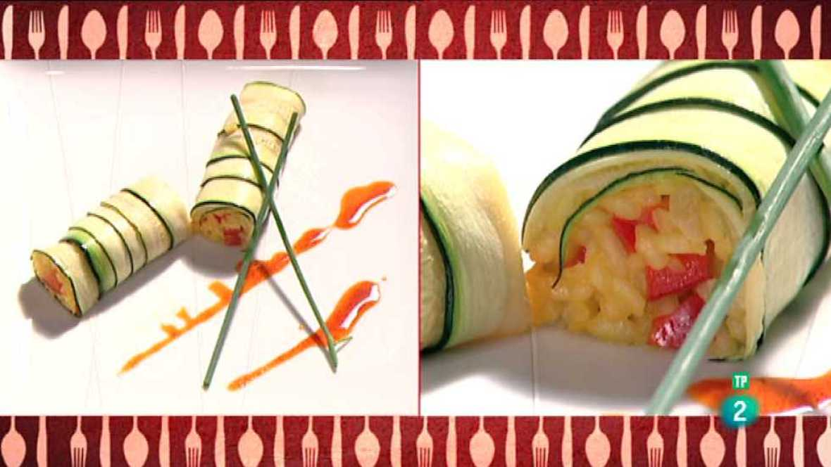 Receta de rulo de calabac n relleno de arroz con verduras - Cocina con sergio pepa ...