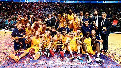 El Barcelona ha sumado su sexta Supercopa al derrotar en la final a Unicaja por 62-80, guiados por un gran Pau Ribas, MVP de la competici�n.