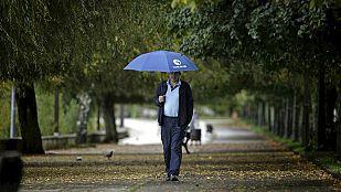Lluvias fuertes en Galicia y en el Sistema Central