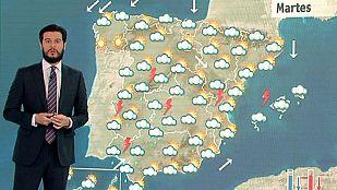 Chubascos persistentes en el sur de Levante
