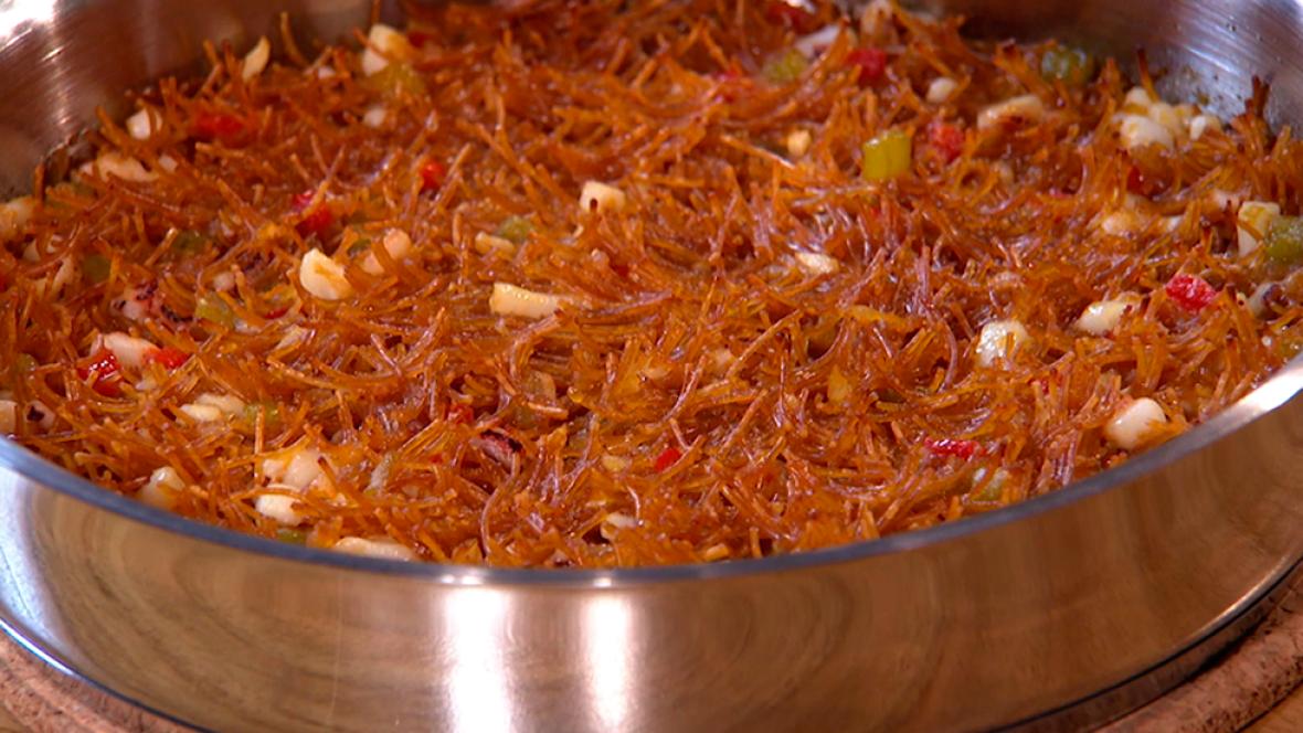 Receta de fideu de calamar for Cocinando con sergio en la1