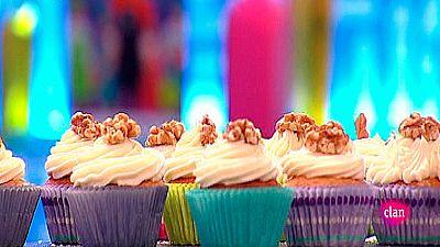 Receta de cupcakes de pl�tano, vainilla y nueces