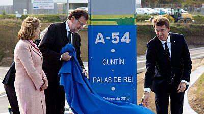 """Rajoy reivindica los """"hechos"""" frente a las """"promesas"""" en la última inauguración prevista antes de las generales"""