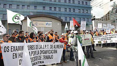 Los examinadores de la DGT en huelga para exigir más seguridad y menos carga de trabajo