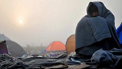 El frío se convierte en el peor enemigo de los refugiados