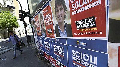 Los candidatos argentinos se preparan para las elecciones intentando evitar una segunda vuelta