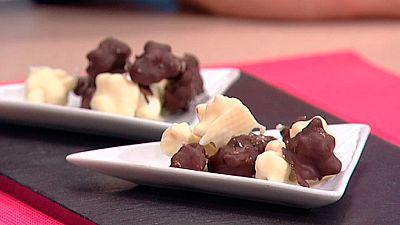 Escuela de pasteler�a: Palomitas cubiertas de chocolate