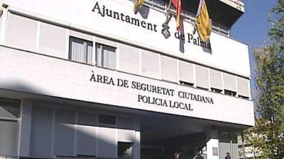 Nueve policías locales de Palma, detenidos por su presunta relación en una trama de corrupción